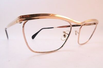 Vintage gold filled eyeglasses frames ALGHA 20 size 48-20 made in England