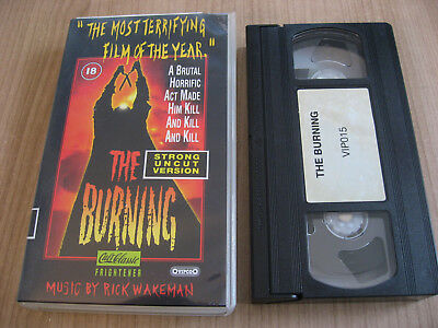 The Burning Vhs Brian Matthews Leah Ayres Lary Joshua Jason Alexander J.backer