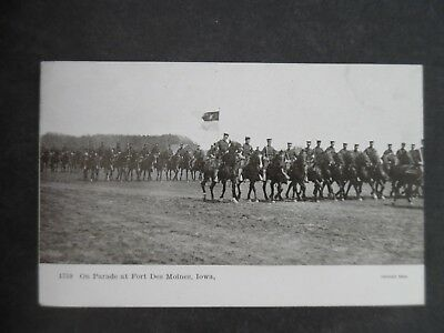 1900s Fort Des Moines Iowa Military Parade Postcard