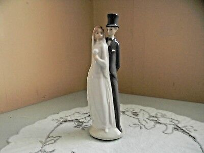Nao By Lladro Bride And Groom Cake Topper Figurine