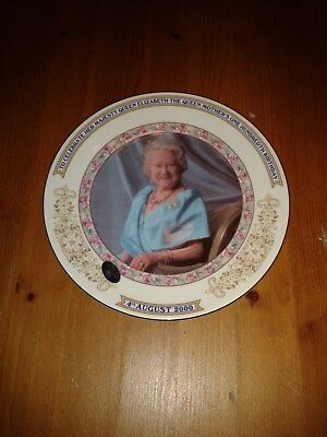 100th BIRTHDAY OF THE QUEEN MOTHER ANNIVERSARY  PLATE.
