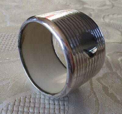 Antique unusual large solid silver napkin ring - Birmingham 1926 (30.8gm)
