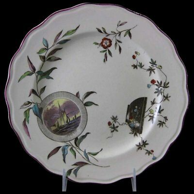 English Victorian Aesthetic Brown Transferware Plate - Conway 1880