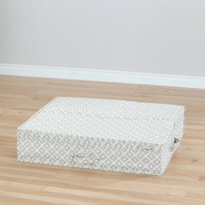Storit Canvas Underbed Storage Box with Pattern by South Shore, Beige