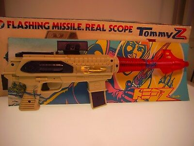 "GSGUN ""FLASHING MISSILE REAL SCOPE"" TOMMY,46cm, PLASTIC, NEU/NEW in ORIGINAL BOX"
