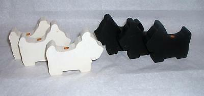 6 Scottie And Westie Dog Wood Cutouts Candle Holders