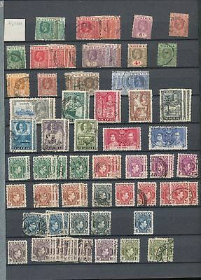 Nigeria GV/QE M&U Collection (Appx 130+)KR405