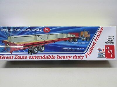Amt~Great Dane~Extendable Heavy Duty Flatbed Trailer ~1/25 Scale