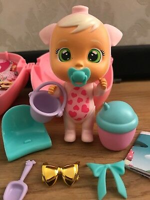 cry babies magic tears Pinky Pig Gold Bow Extra New Toys Out