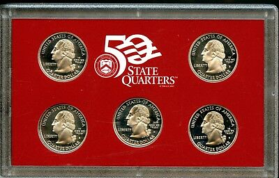 """Unc. 2000 S United States Mint """"50 State Quarters"""" Silver Proof Set ME110"""