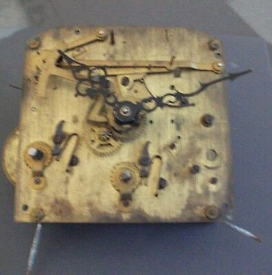 Vintage Wall Clock Movement & Hands - For Spares