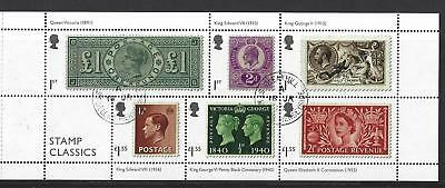 Great Britain 2019 Stamp Classics Miniature Sheet,No Barcode Fine Used