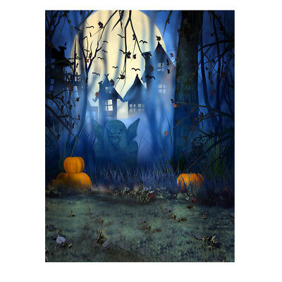1.5*2m Terror Backdrop Background Hallowmas Pumpkin for Children Kid Studio L3K8