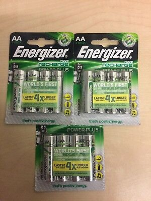 12 x Energizer AA Recharge Power Plus 2000mAh  Rechargeable Batteries