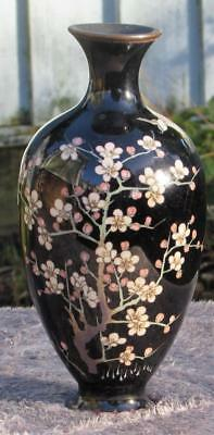 Antique Japanese 19thC Meiji Cloisonne Vase - Exquisite Details
