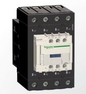 Schneider Electric LC1DT60AF7 TeSys D Contactor, 4P, 4 NA, 440 vac-1, 60 A, 110