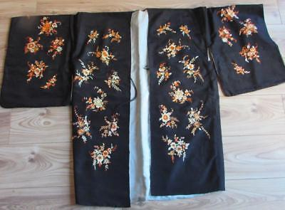 Finest Vintage Japanese Embroidered Silk Haori Kimono -  Excellent Detail