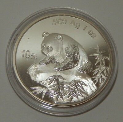 1999 - CHINA - SILVER PANDA - LARGE DATE - .999 Ag 1 oz. - #696Z