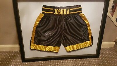Anthony Joshua Signed Shorts / Trunks with Certificate of Authenticity