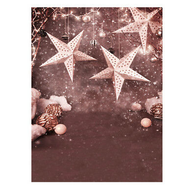 Andoer 1.5 * 2m Photography Background Backdrop Christmas Gift Star Pattern L9A0