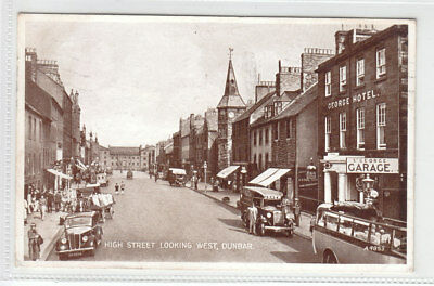High Street Dunbar East Lothian Car Reg SS4254 St George Garage Usher Van 1936