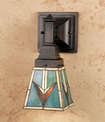 Meyda Tiffany 48181 Tiffany Glass Stained Glass / Tiffany Down Lighting Sconce