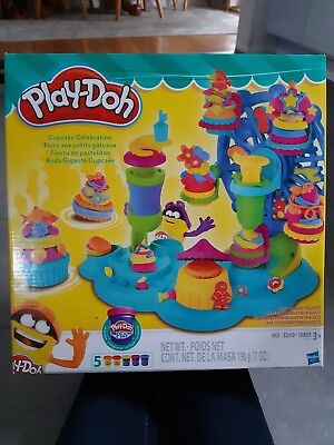 NIB Play-Doh Cupcake Celebration Playset - Creatable, Colorful, Makeable Fun!