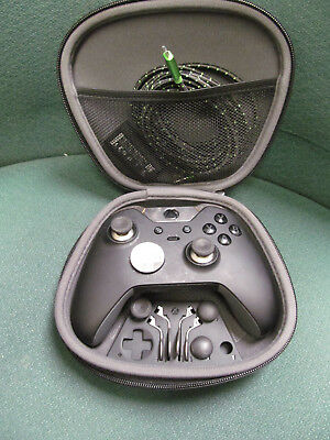 XBOX ONE 1698 ELITE WIRELESS CONTROLLER w RECHARGEABLE BATTERY & SOFT ZIP CASE