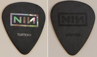 Nine Inch Nails Guitar Pick from 2018 Cold And Black And Infinite Tour NIN Foil