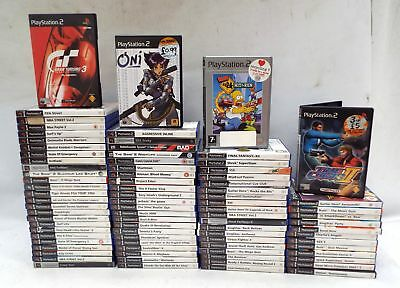 Large Collection Of 82 PS2 Playstation Games/Good Titles/In Good Condition - W51