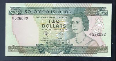 Solomon Islands, 1977, QE11, $2 Dollars, P-5, CRISP UNC!!