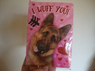German Shepherd I wuff you 2019 Valentines day card with envelope new