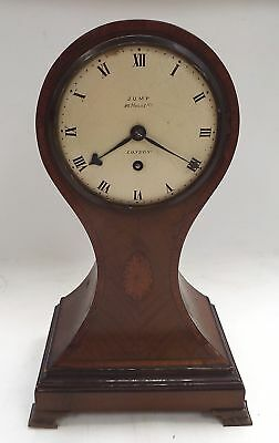 Vintage JUMP London Wooden Mantle Clock SPARES/REPAIRS - O02
