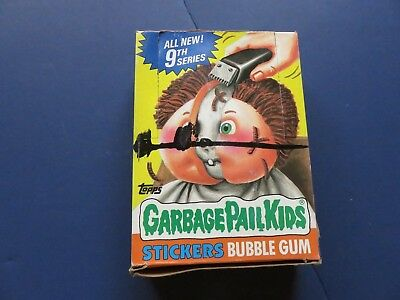 1 Box 1986 Topps Garbage Pail Kids Cards 9th Series; 48 unopened packs