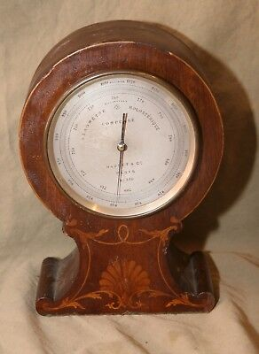 Antique Barometer for Parts Repair NAUDET & CO PARIS No 326 Inlay Case