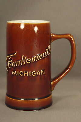 """6"""" HALL POTTERY-USA  """"Frankenmuth, Michigan"""" Beer Stein - RARE"""