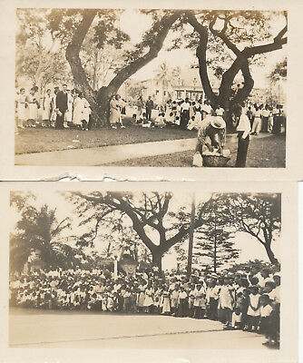 1933  Kam Day celebration Honolulu Hawaii 2 Photos