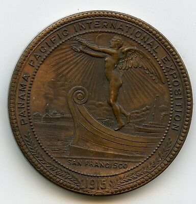 1915 San Francisco Panama Pacific Expo Montana State Fund Dollar Bronze Coin