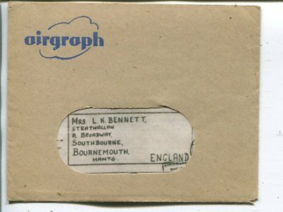 Great Britain airgraph cover 1943