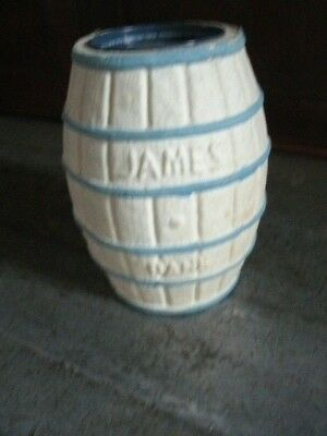 Vintage Paper Mache CANDY CONTAINER. Atlantic City Salt Water Taffy. 7 1/2 inch""