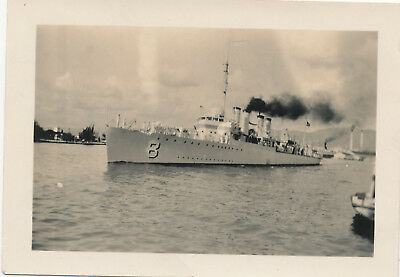 1933 USS Stansbury?  Navy ship Honolulu Harbor, Hawaii  Photo