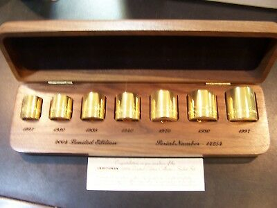 Craftsman 2004 Limited edition Collector's  Socket Set 22K Gold Plated NEW