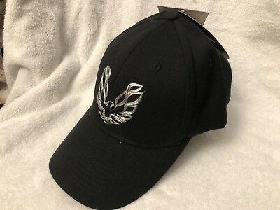Black Firebird General Motors Baseball Hat One Size Fits Most Bio-domes