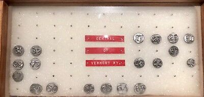 Central Of Vermont RAILROAD DATE NAIL COLLECTION.
