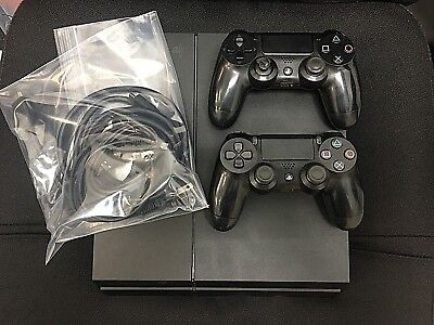 Sony PlayStation 4 PS4 500 GB 2 controllers Black console, Model CUH-1215A