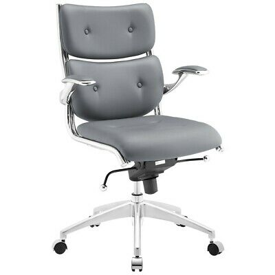 Modway Furniture Push Mid Back Office Chair, Gray - EEI-1062-GRY