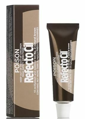 Refectocil tint 3 Natural Brown Eyelash & Eyebrow 15ml - FREE POSTAGE