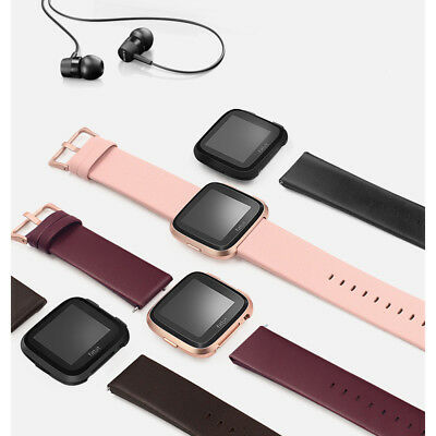 Slim Fashion Genuine Leather Watch Wrist Band Bracelet Strap For Fitbit Versa