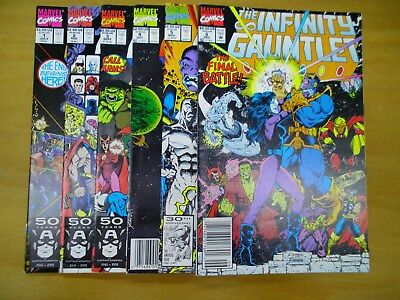 Infinity gauntlet #1-6 Complete Set. (Check out 12 Photos) Thanos, Higher Grade