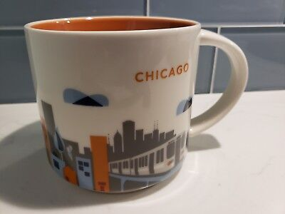 Starbucks Chicago Coffee Mug 2015 You Are Here Collection Series 14oz Cup, New